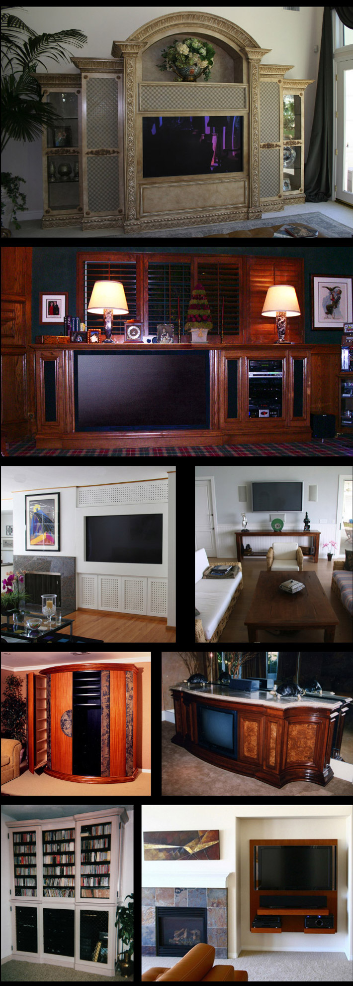 Custom Media Room Furniture - TV Consoles, TV Wall Panels, Enterianment Centers, Wall Units