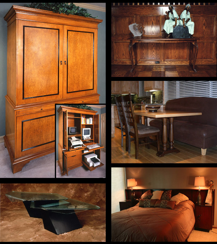 Hand Built Custom Furniture - Bookcases, Armoires, Libraries, Credenzas
