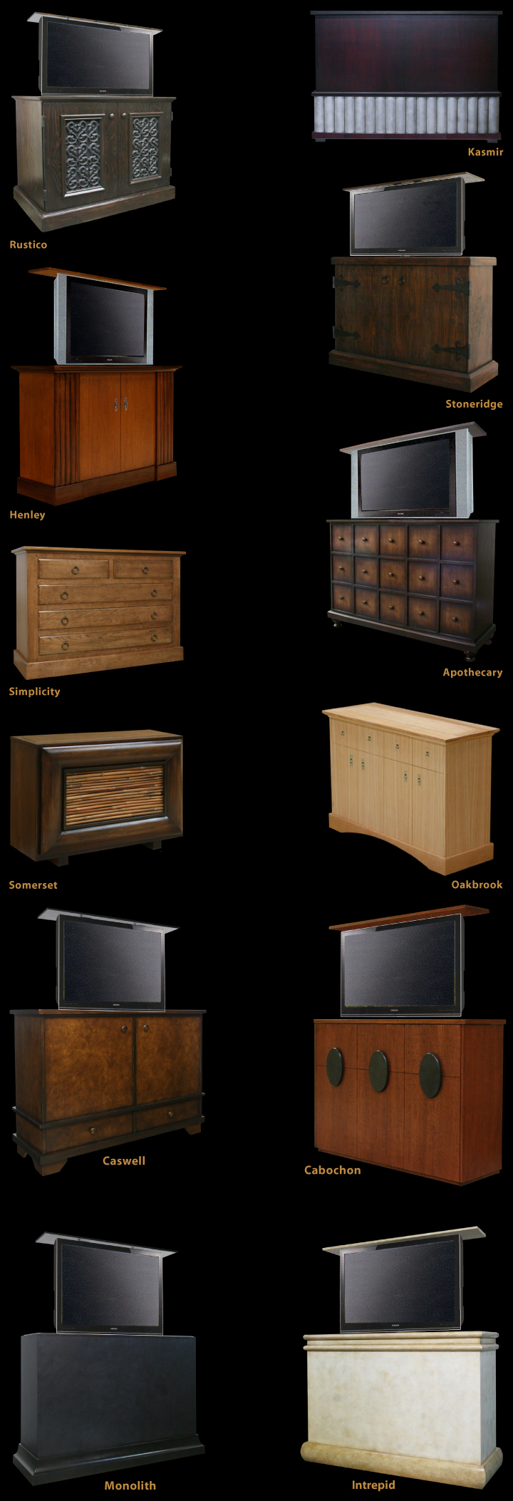 Modern TV Lift Cabinets, Asian TV Lift Cabinets, TV Lift Cabinet Trunks